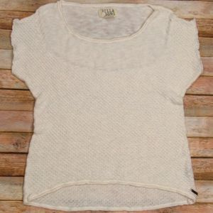 Billabong Scoop Neck Beige Sweater L